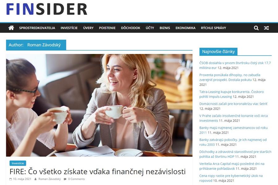 Finsider – moje články