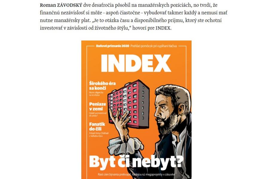Rozhovor pre INDEX – F.I.R.E.