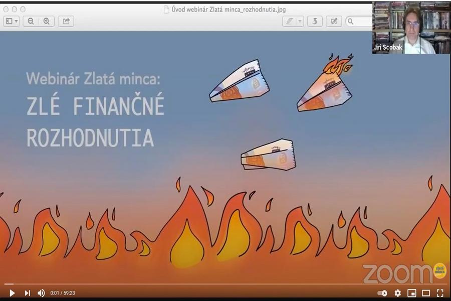 Webinár – Zlé finančné rozhodnutia